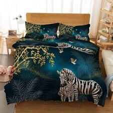 Peaceful Big Zebra 3D Printing Duvet Quilt Doona Covers Pillow Case Christmas