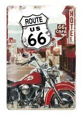 Route 66 Retro Blechschild  30 x 20 cm neu Modell Sign Road 66 HD Bike