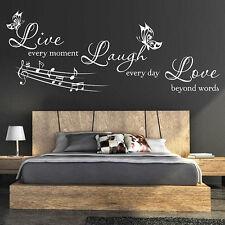 LIVE Laugh Love Citazioni Muro Adesivi Murali Parete Citazione Amore Adesivo Muro N17