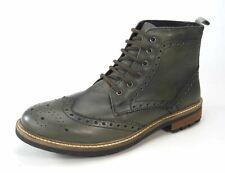 FRANK JAMES Hackney Cuero Auténtico Cordones Zapato Oxford Botas Devlin