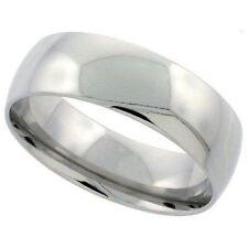 BAGUE ANNEAU ALLIANCE MARIAGE HOMME FEMME ACIER INOXYDABLE NEUVE MIROIR 6mm