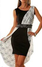 Sexy Miss dress pelo vestido punta High low piedras dress S/M 34/36 M/L 36/38