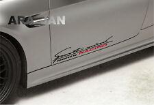 Sports mind RACING Decal Sticker sport car door logo auto emblem performance 2pc