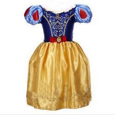 Girls Fairytale Snow White Fancy Dress Princess Outfit Kids Costume Birthday UK