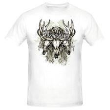 Youth Vintage Deer Skull Tee Browning Buckmark White S M L XL Unisex