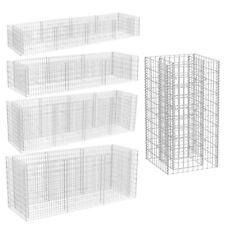 vidaXl Gabion Planter Galvanized Steel Patio Flower Plant Bed Basket 5 Sizes