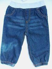 Baby Ragazze Jeans blu denim con polsino Grigio Girovita e Caviglie elasticizzati
