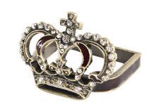 Elegant Jeweled Crown Design Napkin Rings Napkin Holders, Set of 4
