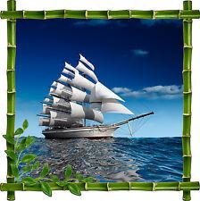 Sticker mural déco bambou Bateau réf 910