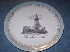 1900s SOUVENIR PLATE KANSAS CITY MO FIRST BAPTIST CHURCH 1879 BUILT