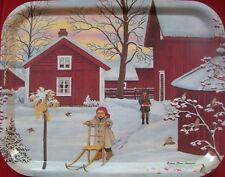 kleines Tablett Weihnachten Winter Schweden