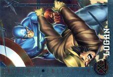 X-MEN FLEER ULTRA 1995 HOLO RELIEF N°  80 LOGAN - SERVAL - CAPTAIN AMERICA -