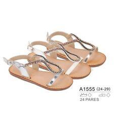 Mädchen Sandalen Sommer Kinder Sandalettem mit Strasssteinen und Glitzer