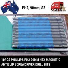 10pcs X Phillips PH2 70mm/90mm Hex Magnetic Antislip screwdriver Drill bits