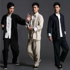 Chinese Kung Fu cotton Linen Uniform Martial Arts Tai Chi Suits Wushu Coat pant