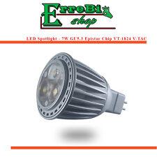 FARETTO LAMPADINA LED GU5.3 7W 3000K 6000K EPISTAR CHIP LAMPADA SPOTLIGHT V-TAC