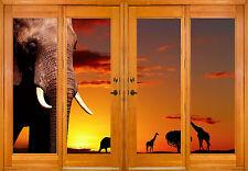 Stickers window trunk the eye deco Elephant ref 2569 ( 10 dimensions )
