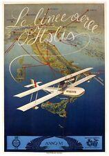 Década de 1930 italiano hidroavión aerolínea cartel A3/A2 impresión