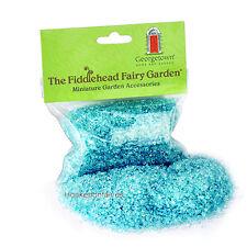 Gravel Glass  Blue Glow in the Dark or Mirror 8.5 oz  Miniature Garden Craft