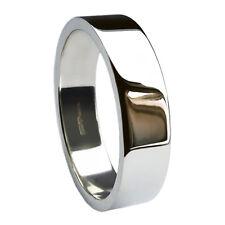 10 mm Anillos de boda de plata esterlina plana perfil 925 bandas de 9.8g caracteriza Reino Unido