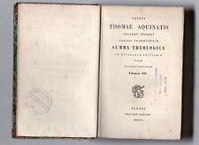 sancti thomae aquinatis- summa theologica - 1853 volumen XII