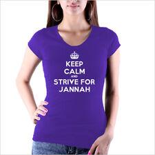 Keep Calm and Strive for Jannah T - Shirt Islam Allah Religion Peace Love NEU !!