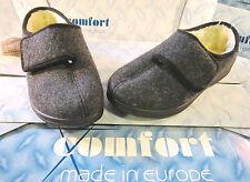 Cálido Zapatillas Cómodo Zapatilla Robusto SOLAPA FIELTRO LANA VIRGEN Adhesivo