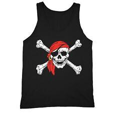 Jolly Roger Skull & Crossbones T-shirt Pirate Flag Tank Military Navy Tanktop
