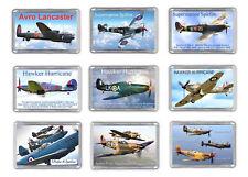 World War 2 Planes Fridge Magnets Lancaster Spitfire Hurricane