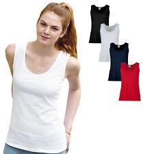Fruit of the Loom Damen Top Lady Fit Vest T-Shirt  XS S M L XL XXL
