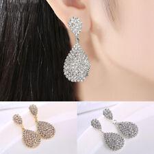 Fashion Vintage Rhinestone Crystal Big Drop Dangle Chandelier Stud Earrings