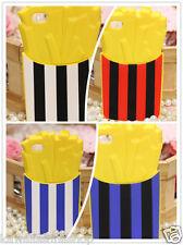 Cover morbida in gomma forma patatine fritte colori scelta Iphone4 e 4S / 5 e 5S