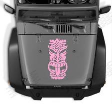 Tiki Head tribal decal vinyl sticker kahuna Hawaii fits any truck Jeep TK1 JK