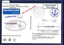 44396) Irland Ryanair FF DD/Weeze - Madrid 31.10.10, feeder mail Schweiz SP