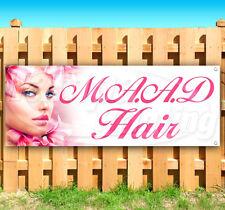 MAAD HAIR Advertising Vinyl Banner Flag Sign Many Sizes USA salon