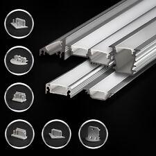 Aluminium Profil für LED Streifen natureloxiert Abdeckung Endkappen Schiene Neu