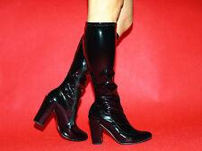Stiefel Lack und  latex rot schwarz 36 37 38 39 40 41 42 43 44 45 46 *FS1329