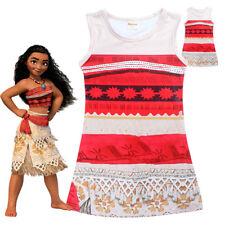 NEW SIZE 2-6 KIDS PYJAMAS COSTUME MOANA MAUI PARTY DRESS OUTFIT SLEEPWEAR GIFT