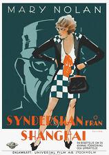 Shanghai lady Mary Nolan vintage movie poster print