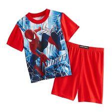 The AMAZING SPIDER-MAN 2-Piece Pajamas Sleepwear Short Set NWT Boys Size 4  $30