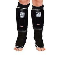Sporteq Shin Guards Leg Gel Pads MMA Foot Boxing Protector Muay Thai Kickboxing