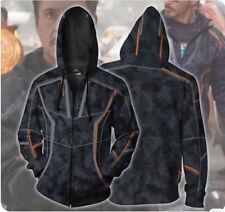 Iron Man Toni Hoodie Infinity War Coat Zipper Sweater Cosplay Costume 3D Print!A