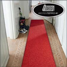 Moderne Läufer rot Teppich Korridor Flur Diele Breite 50, 60, 70, 80, 90, 100 cm