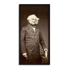 Brady Portrait US President Martin Van Buren 1858 Photo Long Framed Wall Art 12X