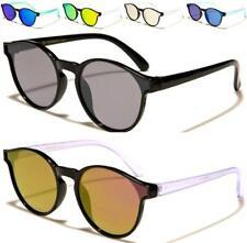 5559103cda Lente plana Redonda Diseñador Gafas De Sol Niños Espejo UV400 Niños Niñas  De Niños