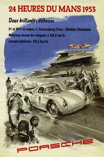 PORSCHE 1953 LE MANS RACE PRINT A3 OR A2 OR A1