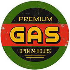 Premium Gas - Vintage Round - Metal Wall Sign (2 sizes - Large and Jumbo)