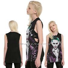 NEW DC Comics Suicide Squad JOKER Black Muscle Tank Top Tee Shirt Juniors S-XL