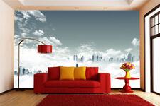 3D Nube Città 7 Parete Murale FotoCarta da parati immagine sfondo muro stampa