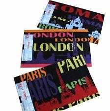 Astra Sauberlaufmatte Fußmatte Städte: London Paris Rom wählbar 50x78 cm
